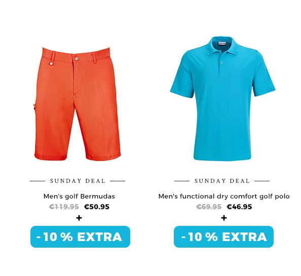 GOLFINO News - Extra 10 % off selected colourful styles