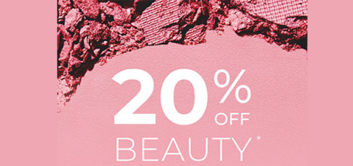 house of fraser – 20% off beauty