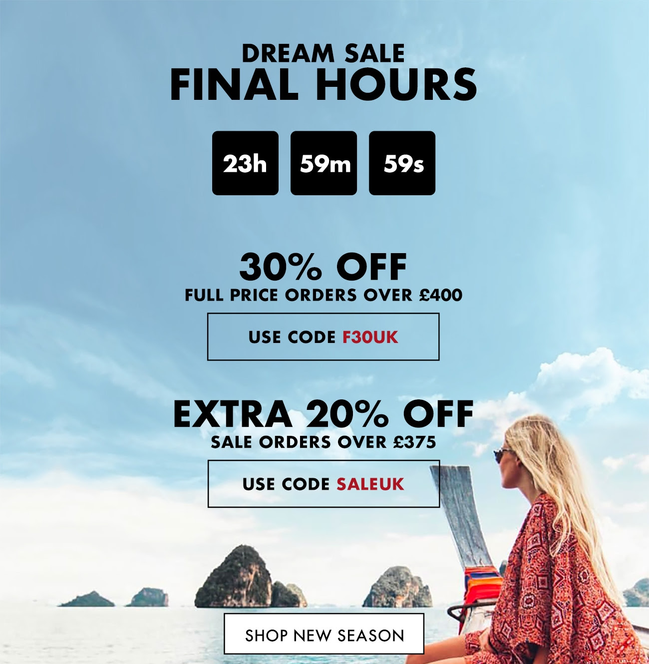 FORZIERI - Tic toc, few hours left - Dream Sale ENDS HERE