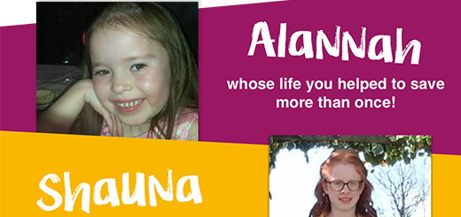 CMRF Crumlin - Alannah whose life you helped to save more than once!