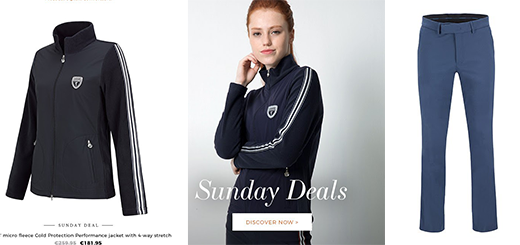 GOLFINO News - Sunday deals: Extra - 10 % on selected functional clothing