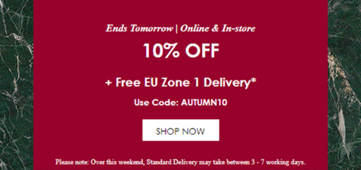 molton brown – hurry, ends soon: 10% off + free delivery