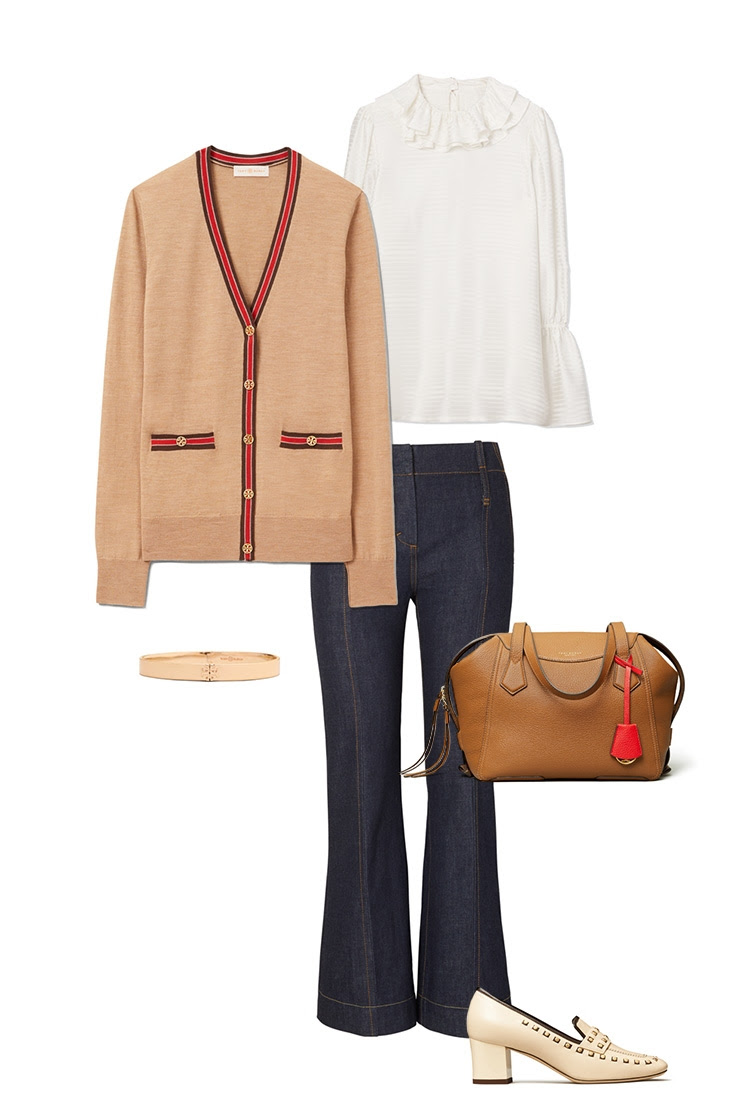 Tory Burch - The classic cardigan, 3 ways
