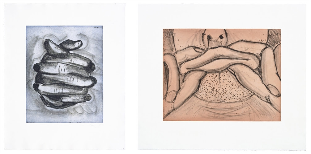 Bruce Nauman Two works from Soft Ground Etchings Series, 2007