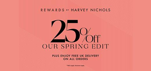 Harvey Nichols - Rewards exclusive 25% off selected lines