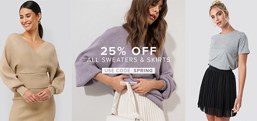 NA-KD.com - 25% off all sweaters & skirts