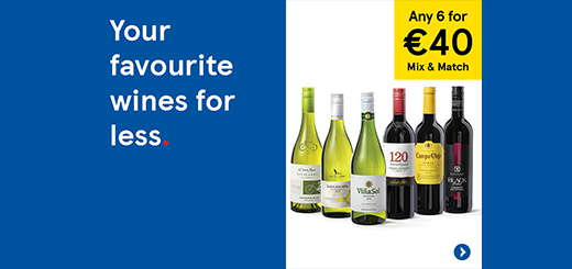Tesco Ireland - 6 for €40 Wines and Large Easter Eggs 3 for €9!