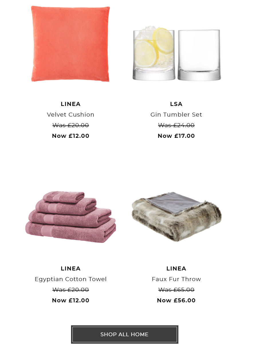 House of Fraser - Up to 30% off selected homeware