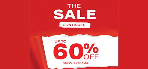 The Sale continues with up to 60% off!