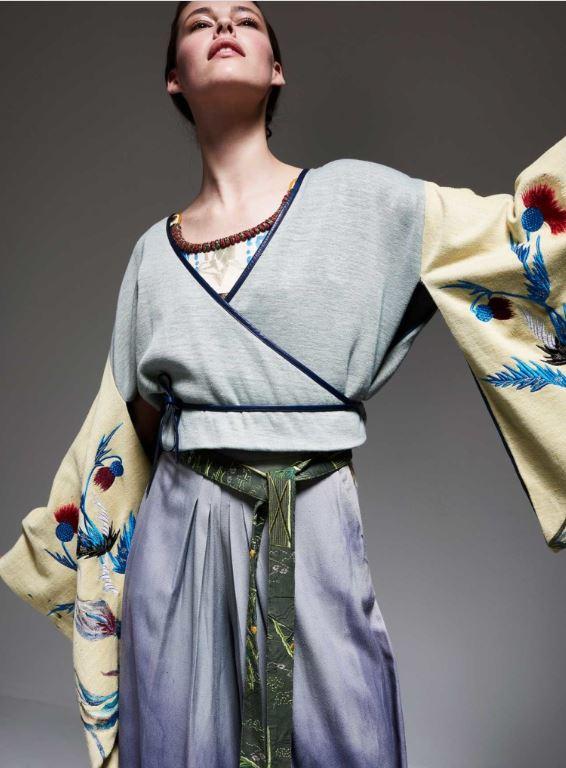 Kimono sweatshirt lav beige sleeves Silvia Giovanardi Milan.JPG