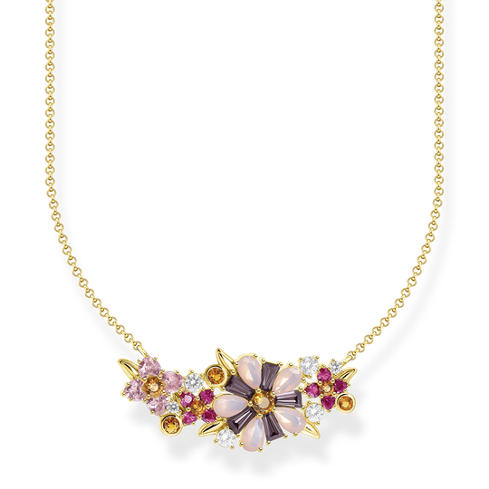 Necklace flowers colourful stones gold from the Glam & Soul collection in the THOMAS SABO online store