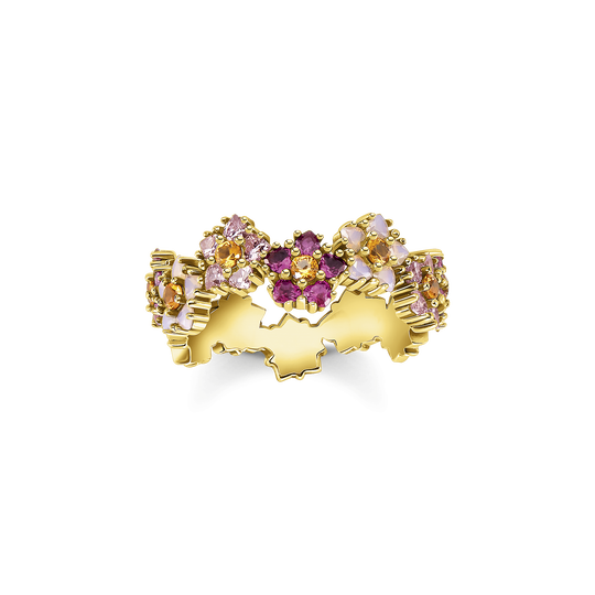 Ring flowers colourful stones gold from the Glam & Soul collection in the THOMAS SABO online store