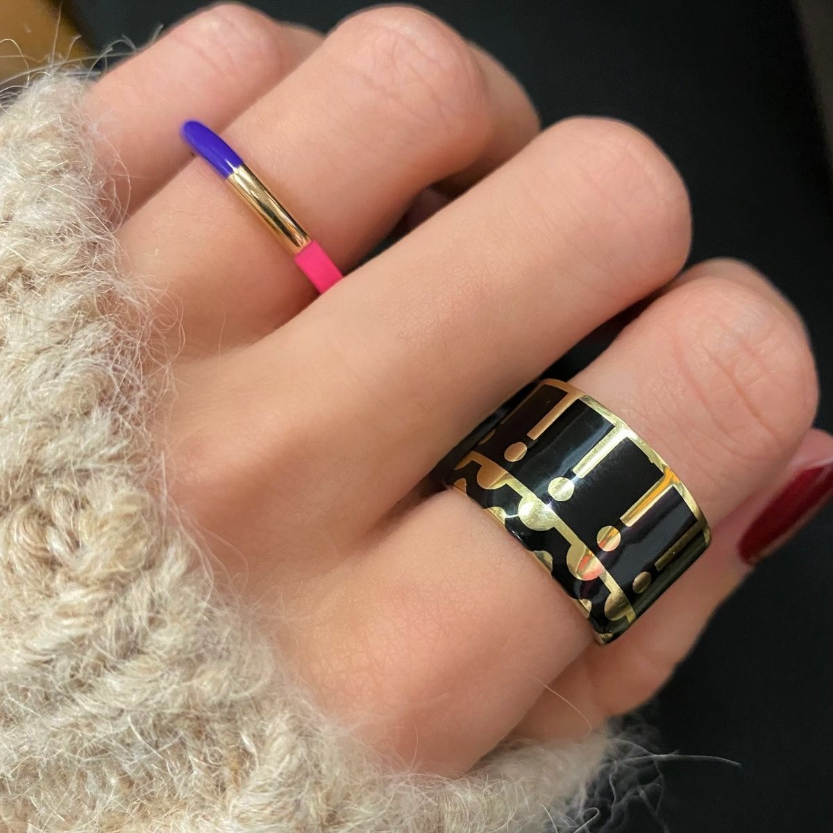 Memphis wide band ring Greenwich jeweler on model cropped.jpg