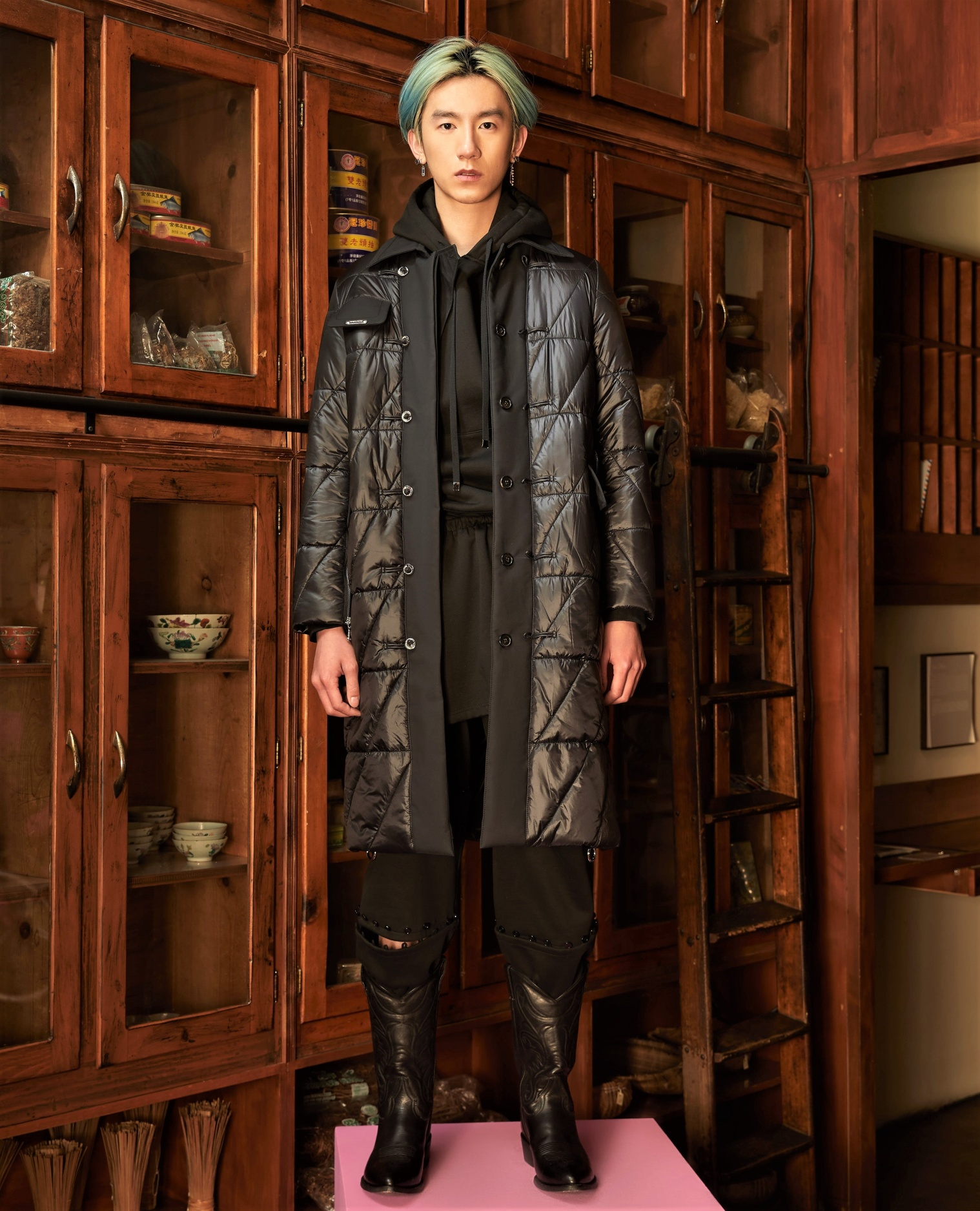 NYFW Private Policy Fall 2-21 blk puffer coat men cropped.jpg