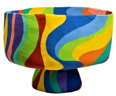 Wolg and Badger paper mache rainbow bowl val day (2) cropped.JPG