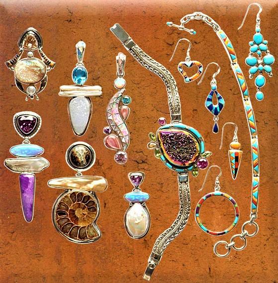 absolute jewelry fossils, pendants, druzys bracelets cropped.jpg