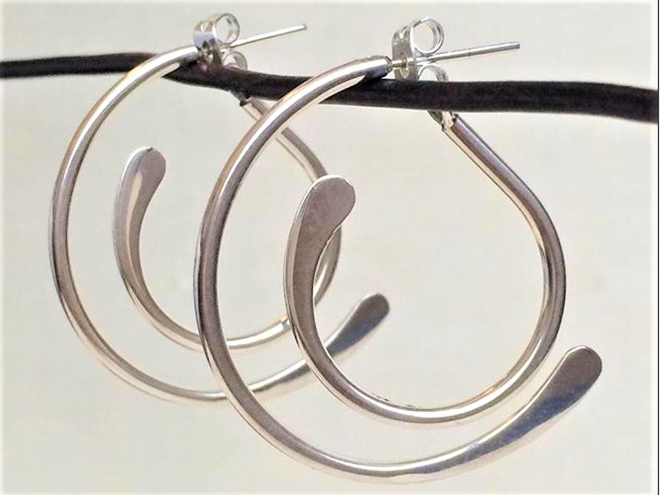 Corazon sterling hoops tucson show cropped.jpg