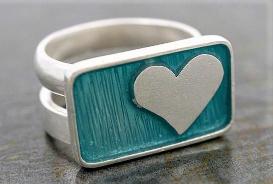Corazon sterling lt blue heart ring enamel Tucson show cropped.jpg