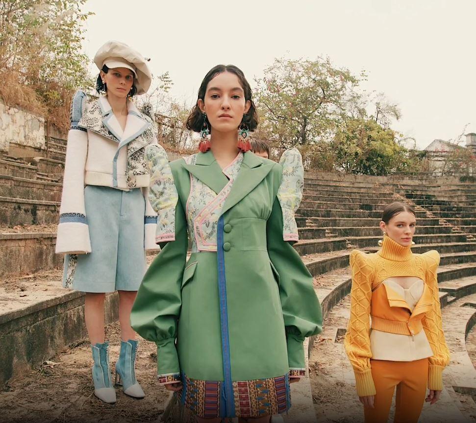 Milan 2 Sara Wong 3 models green blue orange.JPG