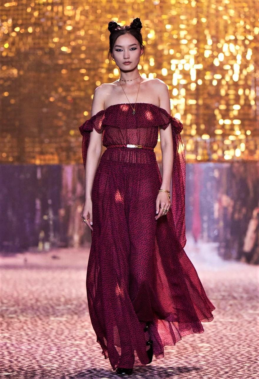 dior fall 21 shanghai crfashion burgundy gown cropped.jpg