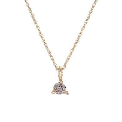 Image of Solid Gold Hope And Magic Necklace Grey Diamond