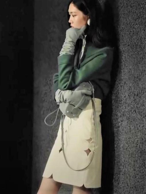 Mark Gong Shanghai youtube green top wht skirt (2) cropped.JPG