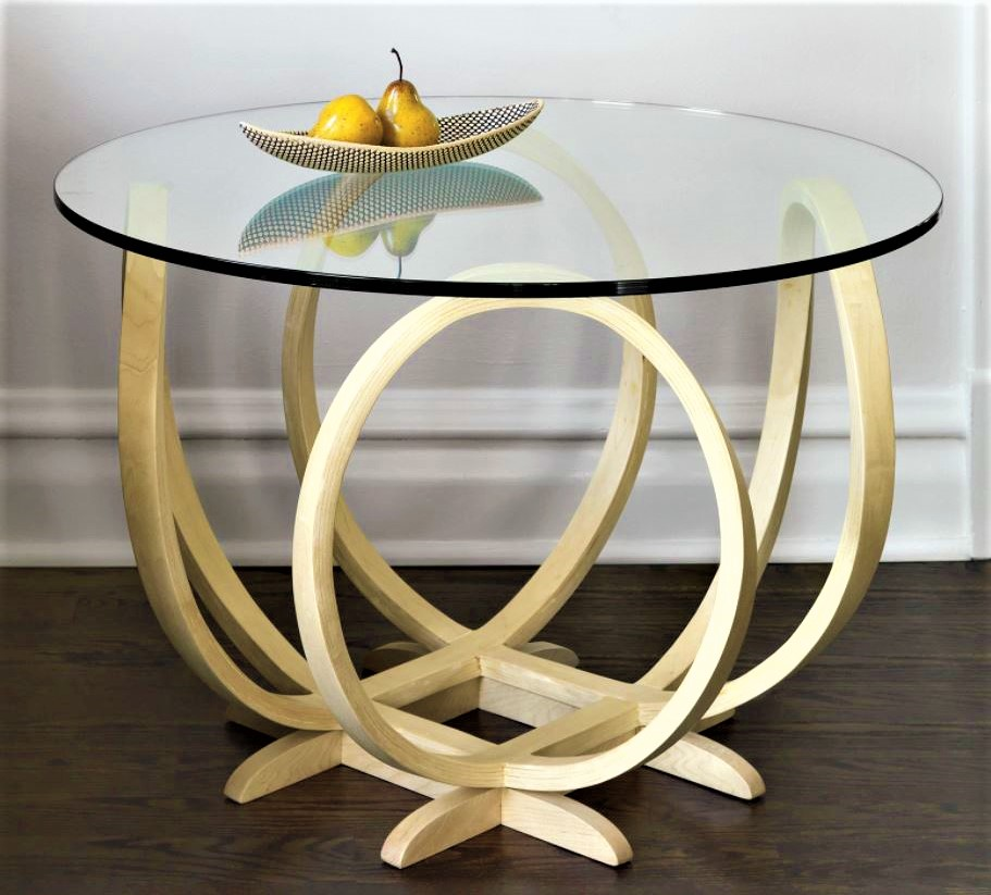 Artfullhome steam bent round wood table home decor (2) cropped.JPG