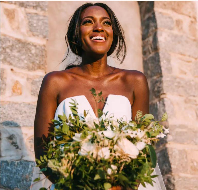 Brides blk bride with metallic make-up destination.JPG