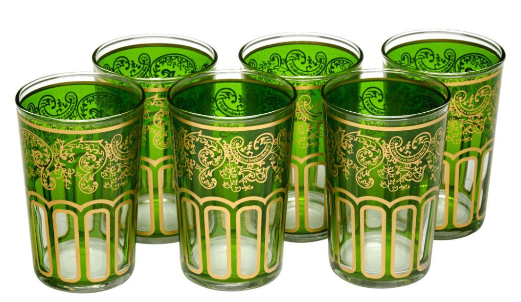esofmo Morroco green glasses home decor.JPG