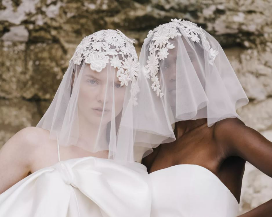 Halfpenny London veils 2 models bridal.JPG