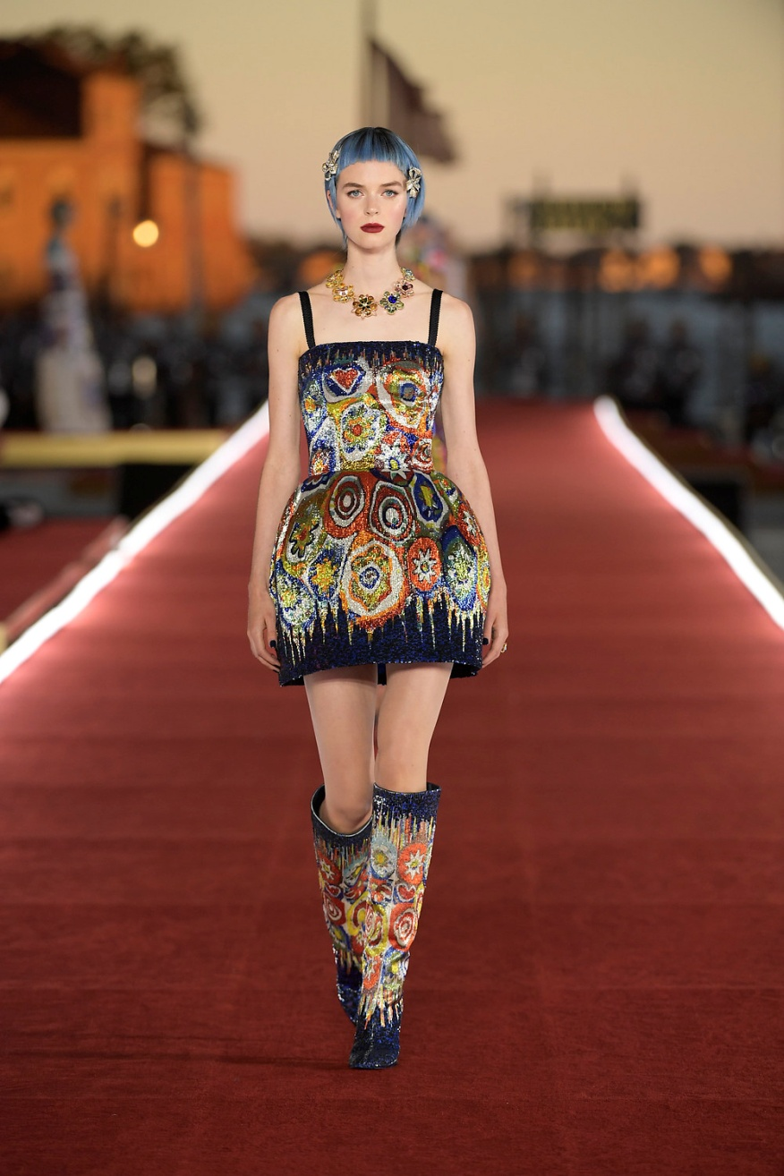 Dolce Milifior short dress and boots D+G site.jpg