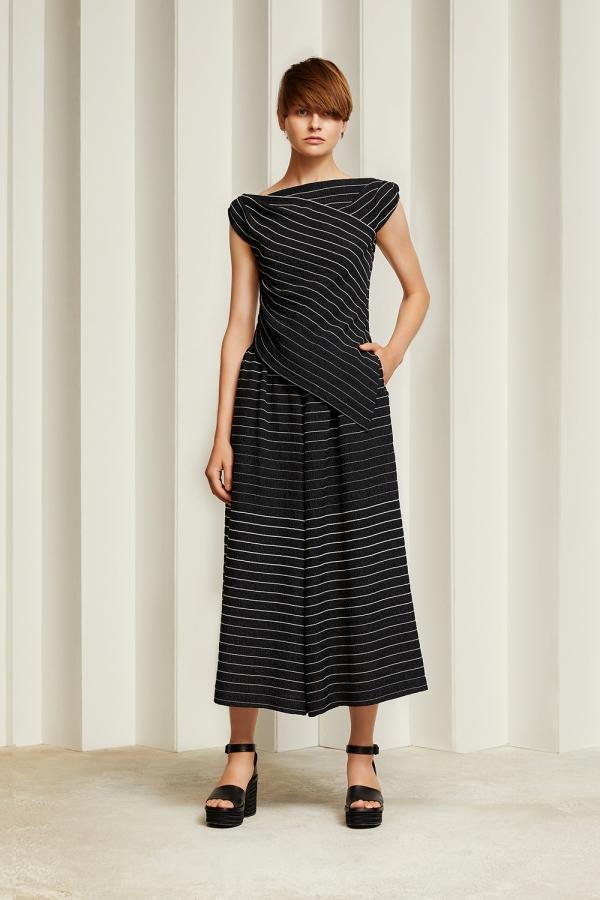 Tokyo 8-21 Jun Ashida blk stripe dress.jpg